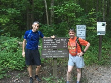 Brian and Shawn at the Rainbow Falls Trailhead