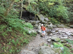 Shawn on the Rainbow Falls Trail