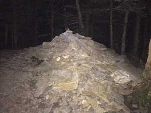 Rock Pile at High Point at midnight