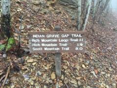 Indian Grave Gap Trailhead