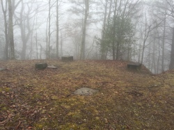 Fire tower site in Indian Grave Gap Trail