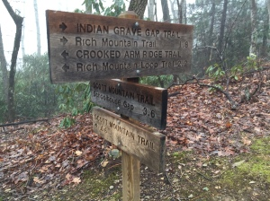 Indian Grave Gap Trail Junction